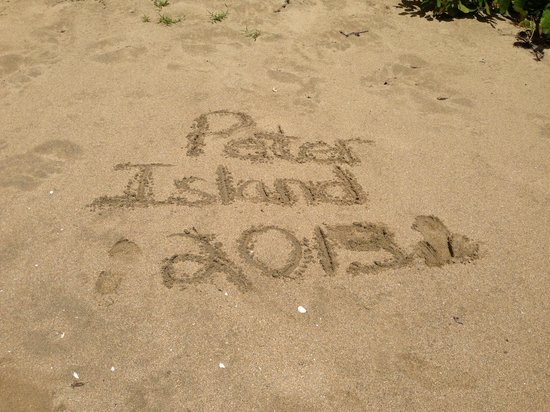 Peter Island Resort and Spa : Leaving our mark on white bay