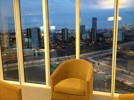 Staybridge Suites London - Stratford City: View from hotel lobby (take lift up to lobby from Westfield)