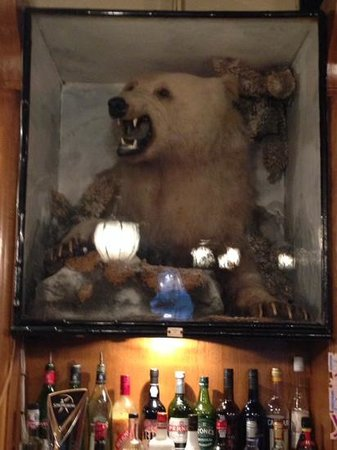 The White Bear Country Inn: the white bear in the bar