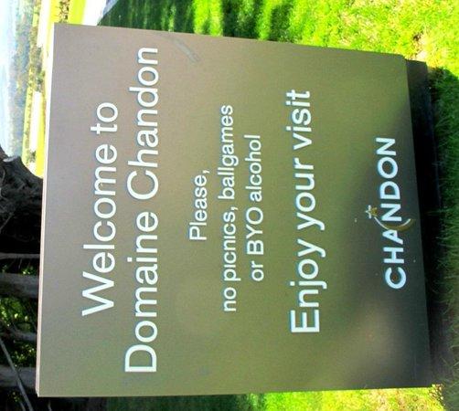 Domaine Chandon: entrance