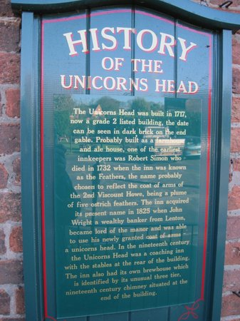 Unicorns Head: History grade 2 listed