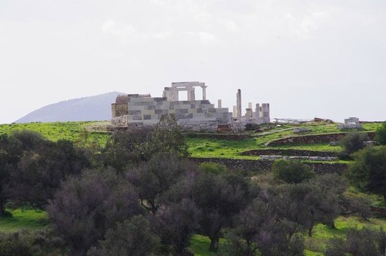 Temple of Demeter : The Temple in the distant, seen from the path