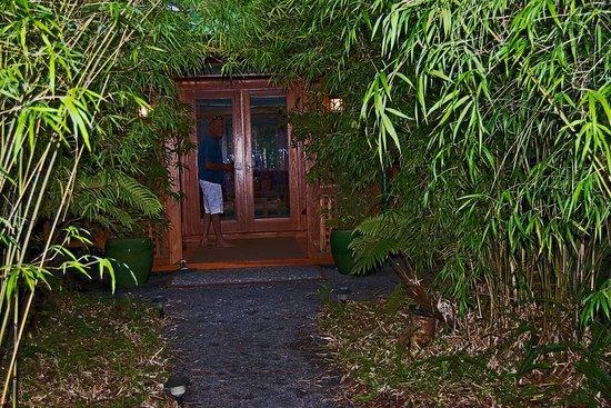 Volcano Rainforest Retreat: Bamboo greeting