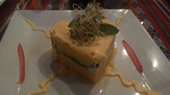 Fusion Latin Cuisine: Heart- shape Chicken causa