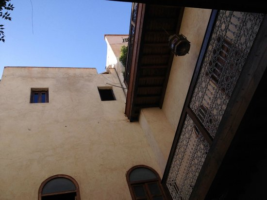 El Fenn: Looking up to our room from pool area