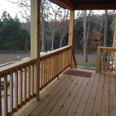 Blue Springs Ranch: Back porch