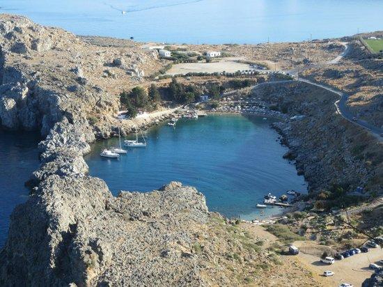 Agios Pavlos Beach (Saint Paul): вид с Акрополя