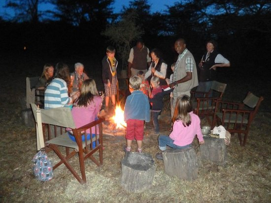 Leleshwa Camp: marshmallows by the camp fire
