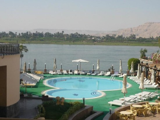 Lotus Luxor Hotel: the Nile from our room