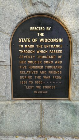 University of Wisconsin - Madison: One of the Civil War plaques at Camp Randall