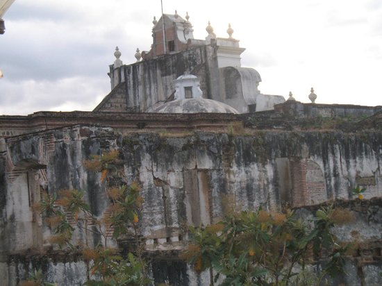 Tartines: View of the cathedral ruins from rooftop terrace