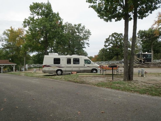 Branson KOA : then moved to our second one to have a better hydrolic pressure difference for the full hookup