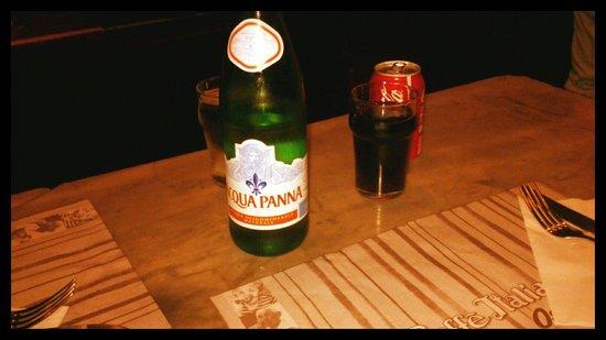 Osteria del Caffè Italiano : Coca Cola 3 euro acqua 3euro