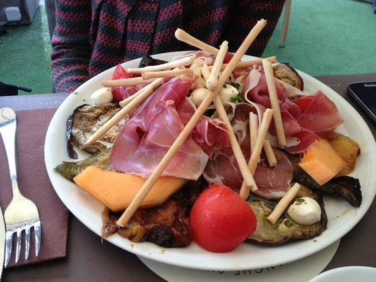 Les Palmiers: assiette d'antipasti
