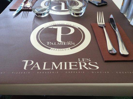 Les Palmiers: table