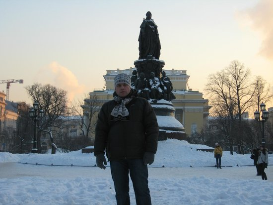 Monument to Catherine the Great: Муж