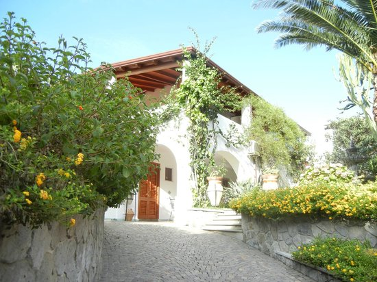 Grand Hotel Arciduca: Le jardin très fleuri