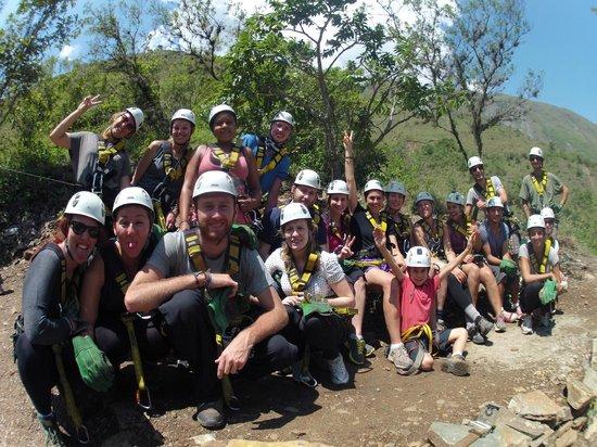 Zipline Inka Flyer Santa Teresa: nice group