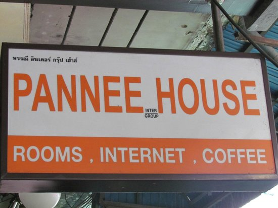 Pannee House : sign