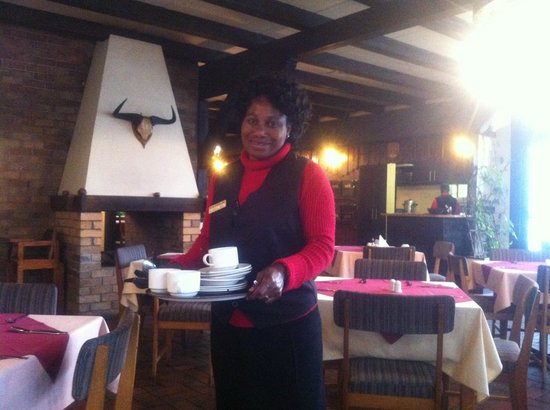 Hotel Europa Hof: One of the staff at the restaurant