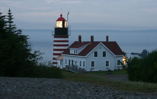 Eastland Motel: West Quoddy Light at sunrise