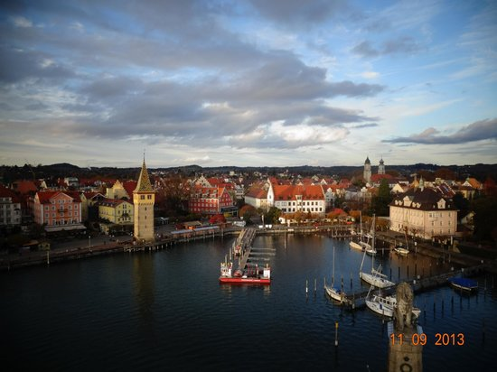 Hotel Landgasthof Köchlin: Panorámica de la ciudad Landau desde el faro del puerto