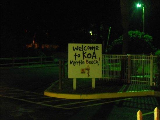 Myrtle Beach KOA Kampground : sign