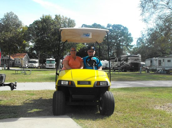 Myrtle Beach KOA Kampground : golf cart we rented