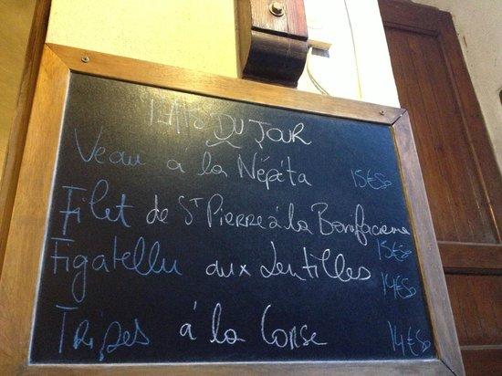 Cantina Doria: 今日の定食