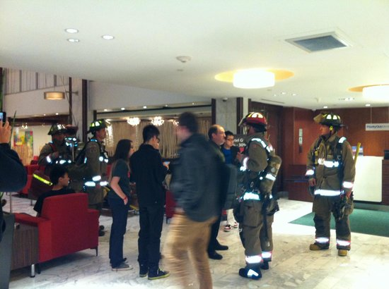 Holiday Inn Toronto Downtown Centre: Firefighters in action