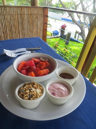Surf With Amigas- Women's Surf and Yoga Retreat: Fresh tropical fruit, granola, yogurt and honey for breakfast #1 of 2 everyday
