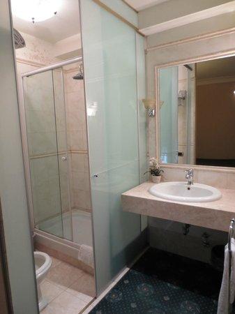 Hotel 2000 Roma: Shower/sink