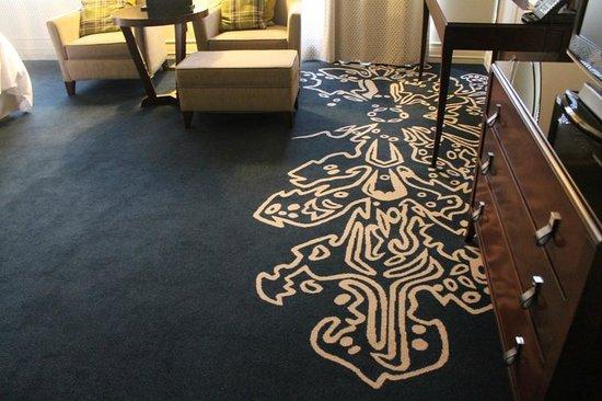 LIttle distinctive touches like carpet designs make the Tsaghkadzor Marriott Hotel even nicer