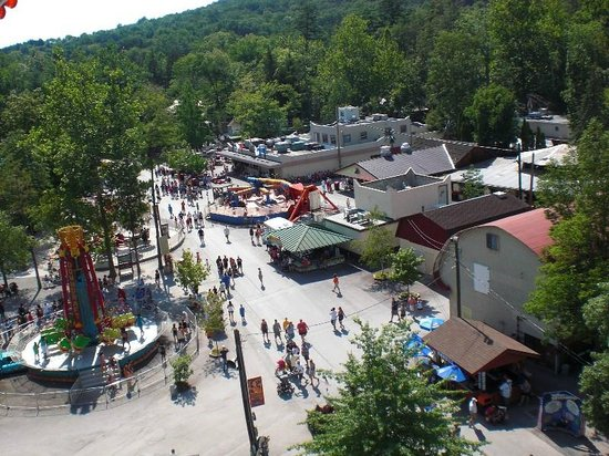 """Knoebel's Amusement Resort : view from the """"Sky Ride"""""""