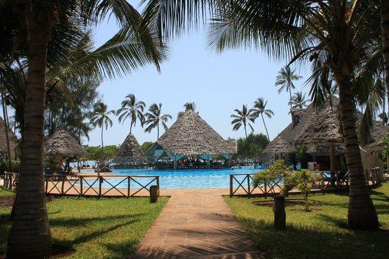 Neptune Pwani Beach Resort & Spa: One of the two swimming pools