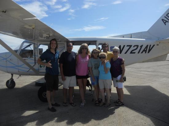 Air Ventures Hawaii: After flight photo of our party