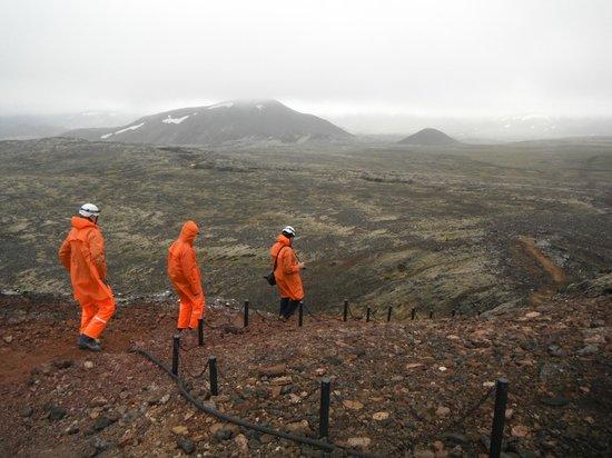 Inside The Volcano: The trek across the lava field