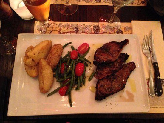 Bella Italia: Lamb chops