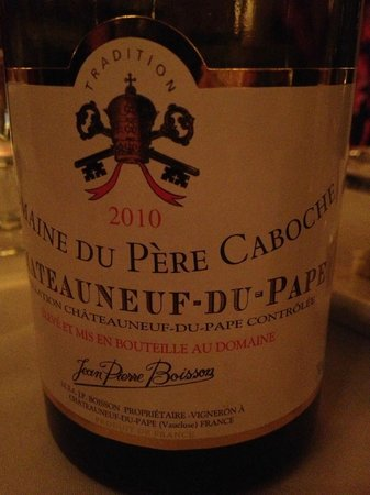 West Street Grill : A velvety Chateaufeuf du Pape...