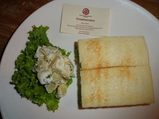 Puri Sunia Resort: Welcom-Sandwich