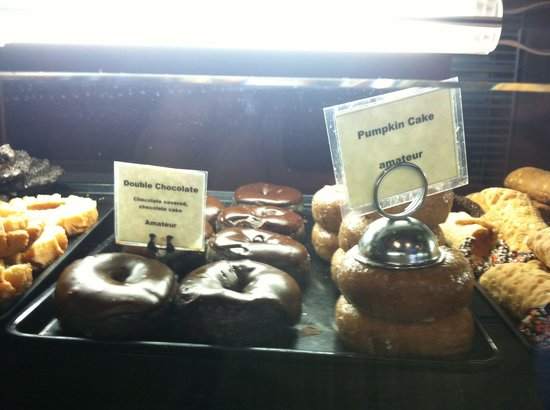 Legendary Doughnuts: I had both the Pumpkin & Double Chocolate cake doughnuts.