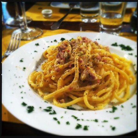 Osteria Caffe Amaro: Bigoli with sausage and leek