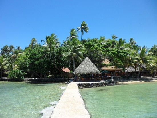 Toberua Island Resort: From break water towards bar and main dining