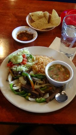 Steak fajita plate picture of aldaco 39 s mexican cuisine for Aldacos mexican cuisine