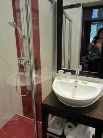 Grand Hotel Francais: Bathroom shower, sink