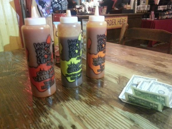 VooDoo BBQ & Grill - Uptown: All three sauces are good
