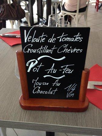 Aux Plaisirs Gourmands : idée du menu du midi