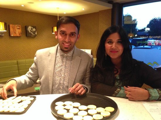 Lime Indian Restaurant : Ali Imdad from BBC Great British Bake Off 2013 visits Lime