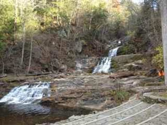 Kent Falls State Park: The base of the falls; please stay on the trails, and no swimming.