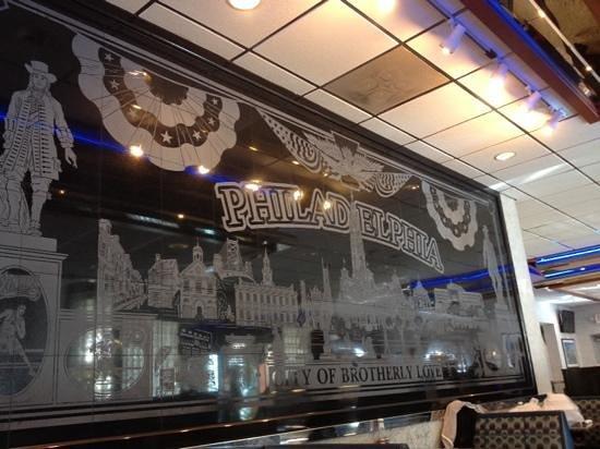 Philly Diner: Diner mural.